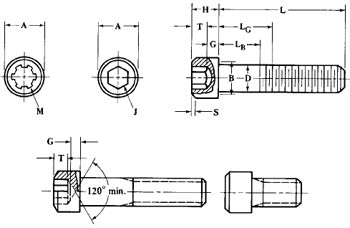 Dimensions of Stainless Steel Socket Head Cap Screw